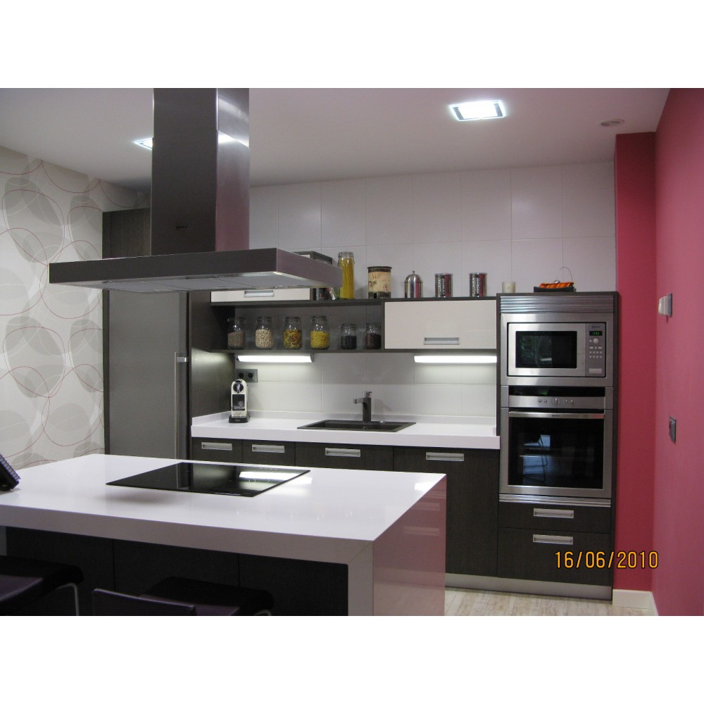 Modelo De Cocina Gris Ceniza Brillo Pictures to pin on Pinterest
